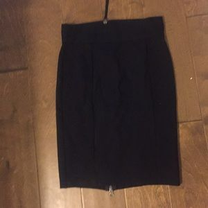 Black Skirt with Back Zip